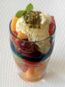 Fruit salad with cashew cream small